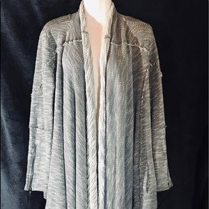 Free People Heather Grey Throw Cardigan, Size Med